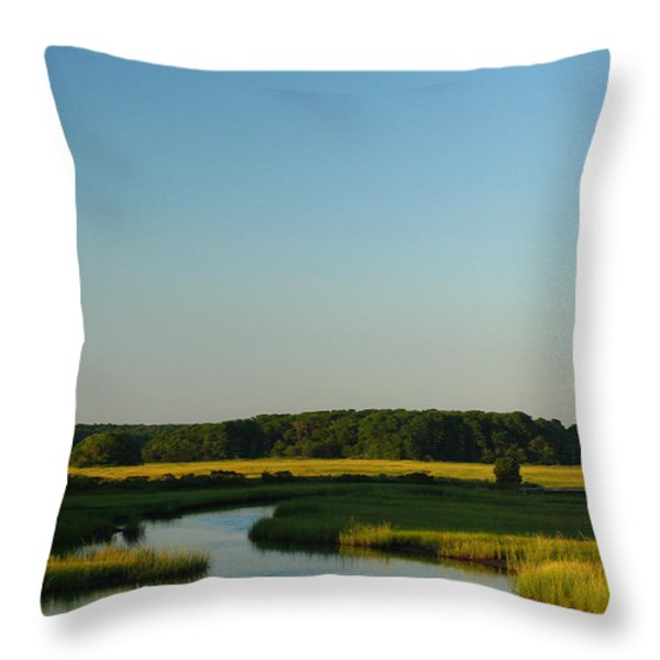 Serene Cape Cod Throw Pillow by Juergen Roth