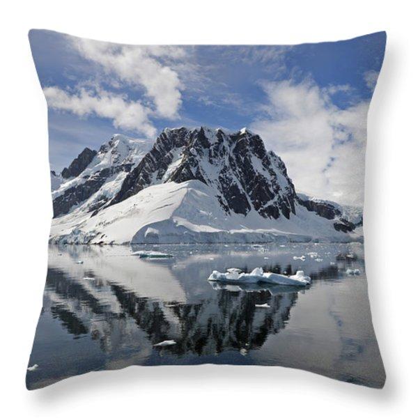 Serene Vista... Throw Pillow by Nina Stavlund