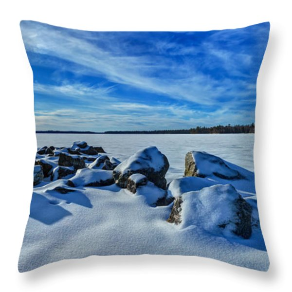 Serenity in Snow Throw Pillow by Bill Caldwell -        ABeautifulSky Photography