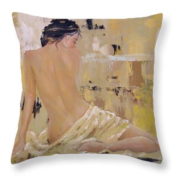 Serenity Throw Pillow by Laura Lee Zanghetti