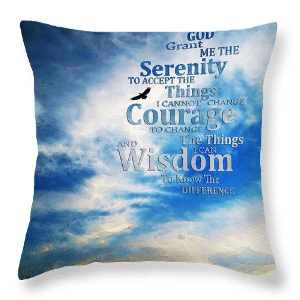 Serenity Prayer 3 - By Sharon Cummings Throw Pillow by Sharon Cummings