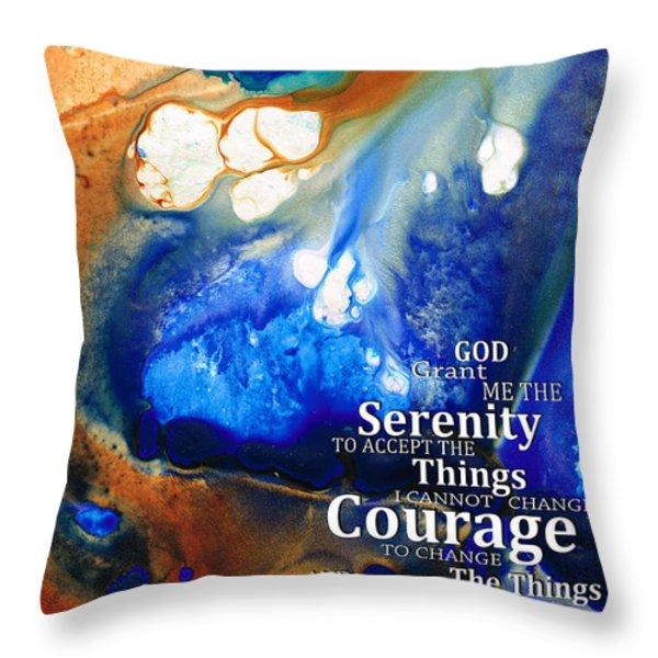 Serenity Prayer 4 - By Sharon Cummings Throw Pillow by Sharon Cummings