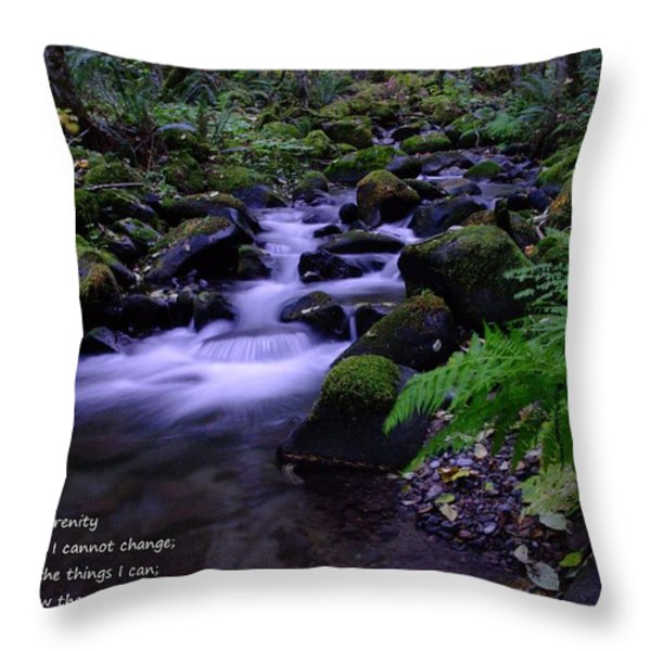 SERENITY PRAYER  Throw Pillow by Jeff  Swan