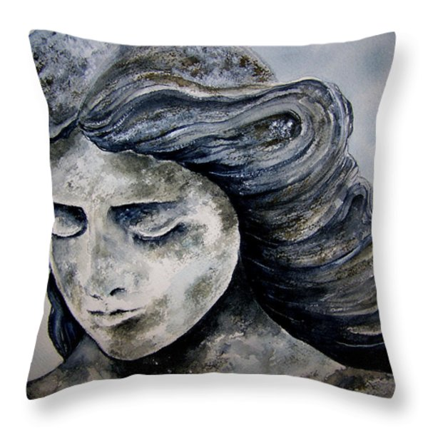 Set In Stone Throw Pillow by Brenda Owen