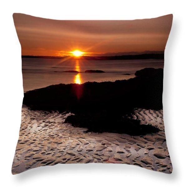 Seton Sunrise Throw Pillow by Jean-Noel Nicolas