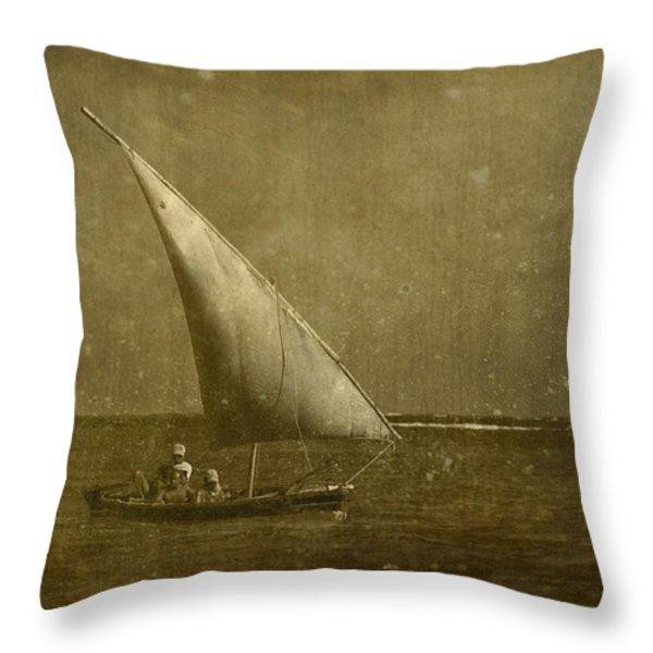 Seven Seas... Throw Pillow by Nina Stavlund