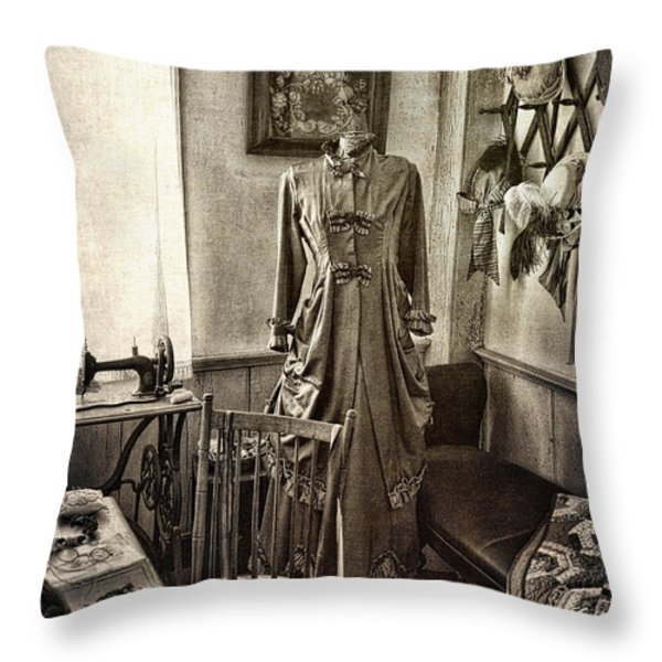 Sewing Room 2 Throw Pillow by Cindi Ressler