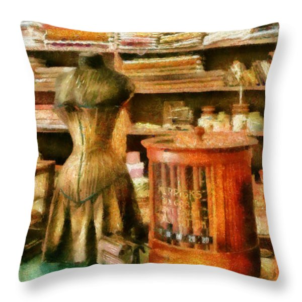Sewing - Supplies for the Seamstress Throw Pillow by Mike Savad