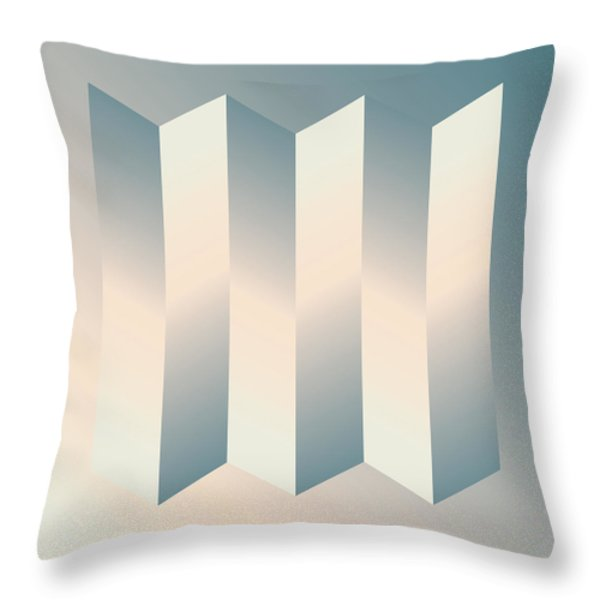 Shaded Columns Throw Pillow by Gary Grayson