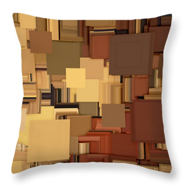 Shades Of Brown Throw Pillow by Lourry Legarde