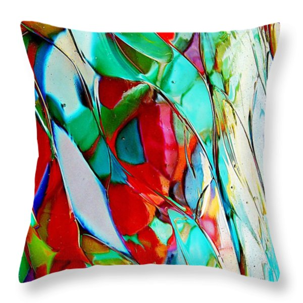 Shades Of Excitement Throw Pillow by Marcia Lee Jones