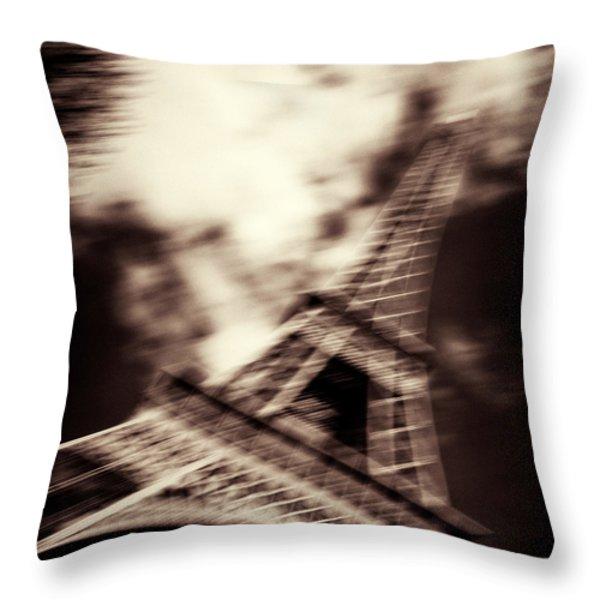 Shades of Paris Throw Pillow by Dave Bowman
