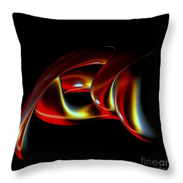 Shades of Red Throw Pillow by Greg Moores
