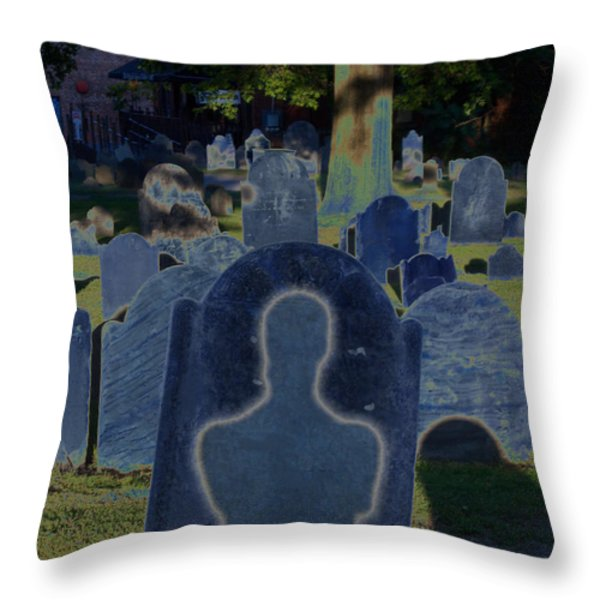 Shadow Grave  Throw Pillow by First Star Art