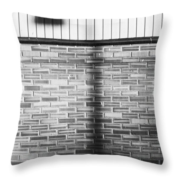 Shadow On The Wall Throw Pillow by Erik Brede