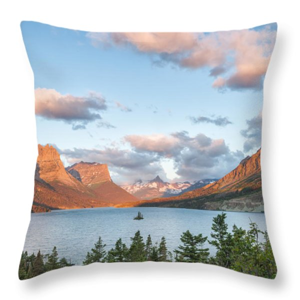 Shadowing Goose Island Throw Pillow by Jon Glaser
