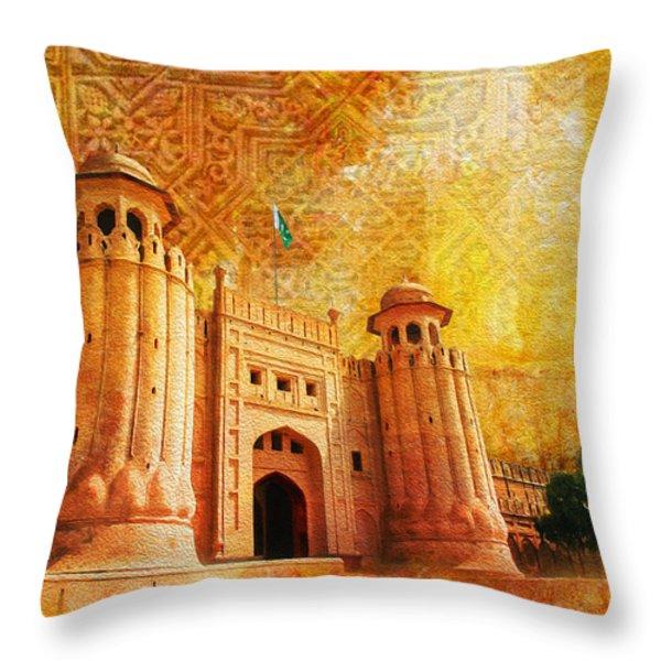 Shahi Qilla or Royal Fort Throw Pillow by Catf