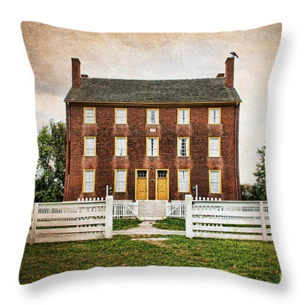 Shaker Village  Throw Pillow by Darren Fisher