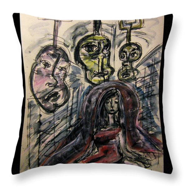 Shame Doubt Insecurity Our own worst Enemies Throw Pillow by Mimulux patricia no