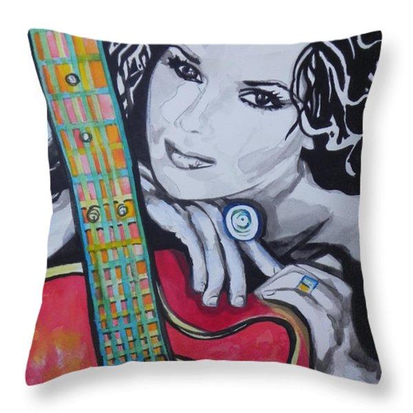 Shania Twain Throw Pillow by Chrisann Ellis
