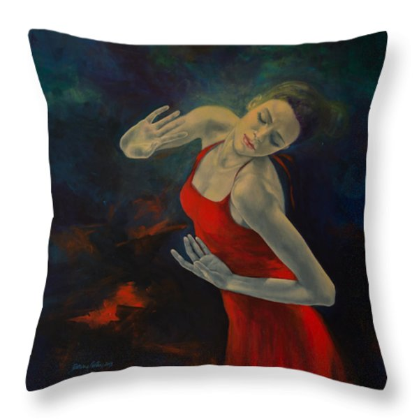Shape Of My Heart... Throw Pillow by Dorina  Costras