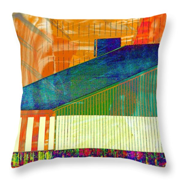 Shapes And Lines Throw Pillow by Marcia Lee Jones