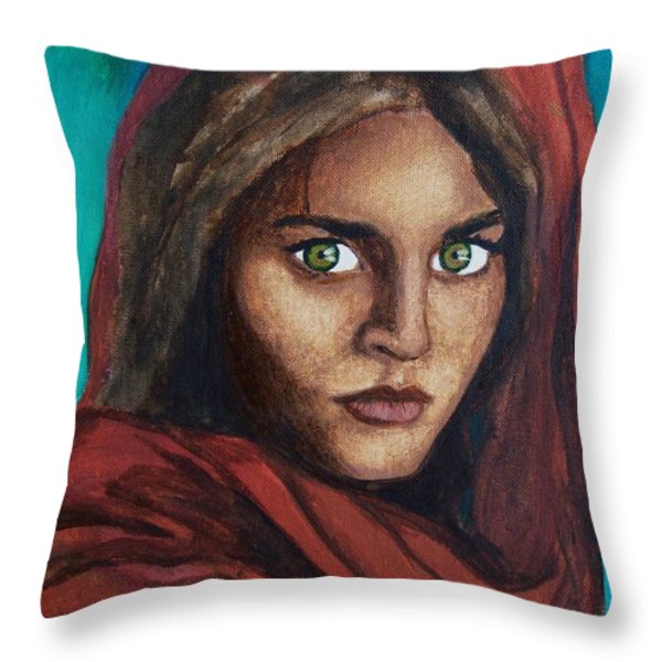 Sharbat Gula Throw Pillow by Amber Stanford