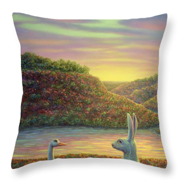 Sharing A Moment Throw Pillow by James W Johnson