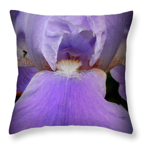 Sharing My Iris Throw Pillow by Rabiah Seminole