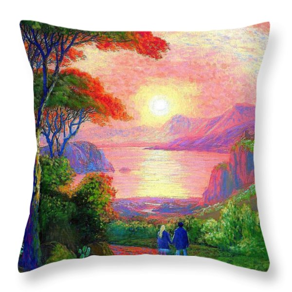 Sharing The Journey Throw Pillow by Jane Small