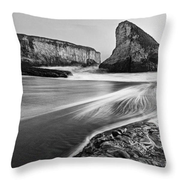 Shark Fin Cove At Dusk. Throw Pillow by Jamie Pham