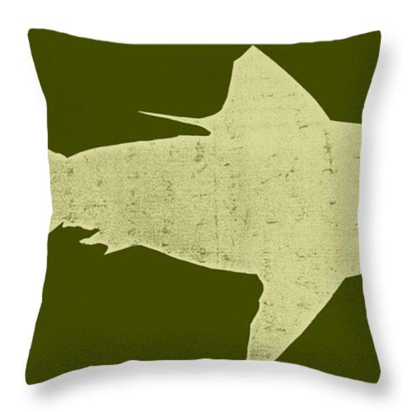 Shark Throw Pillow by Michelle Calkins