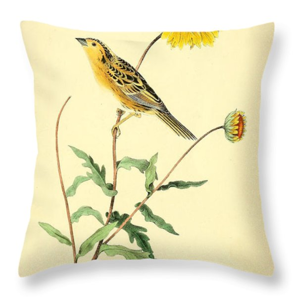 Sharp-Tailed Bunting Throw Pillow by Philip Ralley