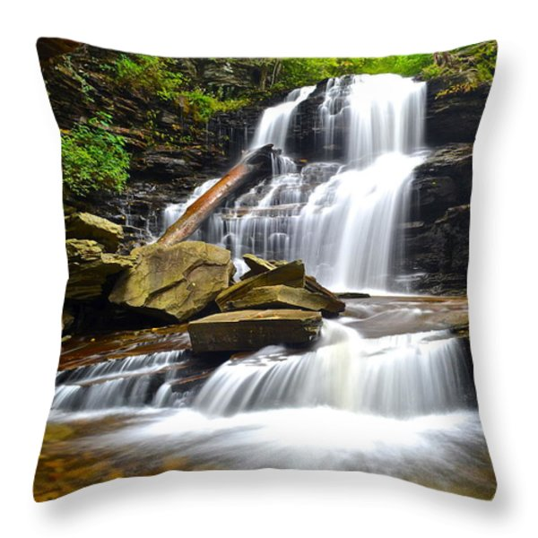 Shawnee Falls Throw Pillow by Frozen in Time Fine Art Photography