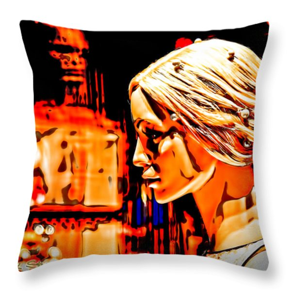 She-devil Throw Pillow by Chuck Staley