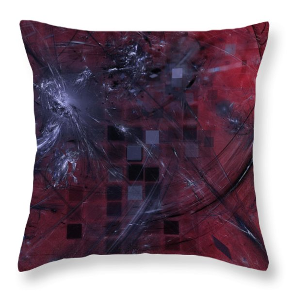 She Wants To Be Alone Throw Pillow by Jeff Iverson