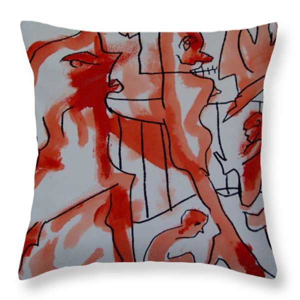 she was fed to death  by animals 2009 Throw Pillow by Sir Josef  Putsche