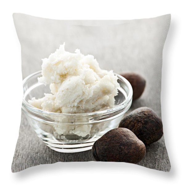 Shea Butter Throw Pillow by Elena Elisseeva