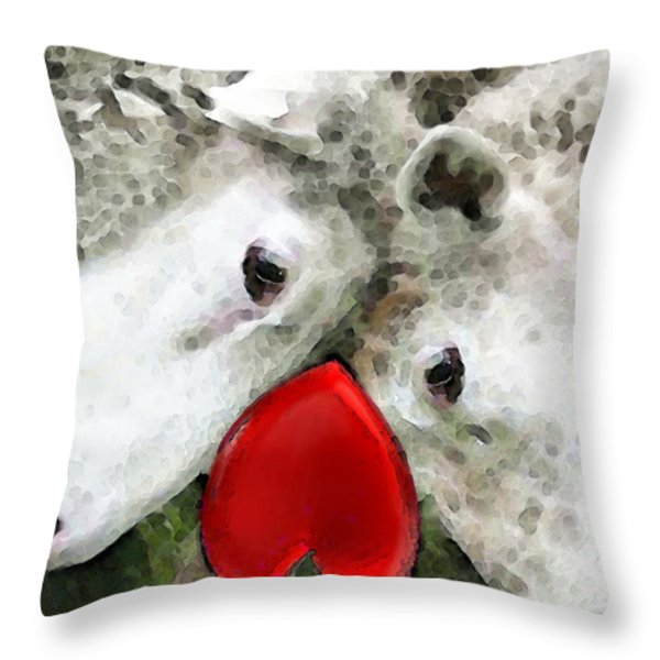Sheep Art - For Life Throw Pillow by Sharon Cummings