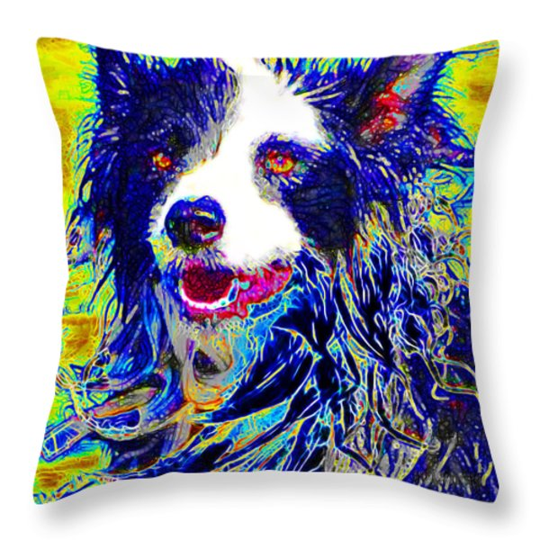 Sheep Dog 20130125v1 Throw Pillow by Wingsdomain Art and Photography