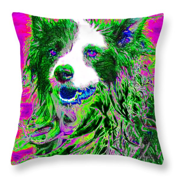 Sheep Dog 20130125v2 Throw Pillow by Wingsdomain Art and Photography