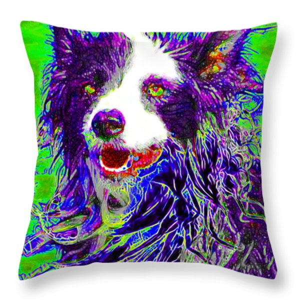 Sheep Dog 20130125v4 Throw Pillow by Wingsdomain Art and Photography