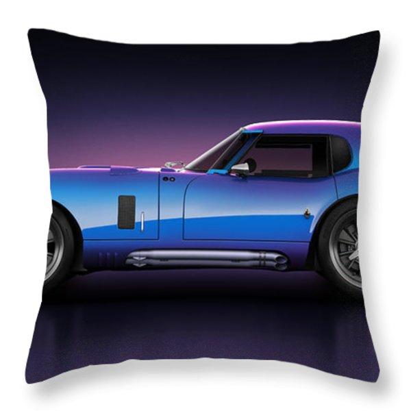 Shelby Daytona - Velocity Throw Pillow by Marc Orphanos
