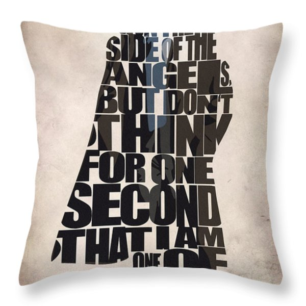 Sherlock - Benedict Cumberbatch Throw Pillow by Ayse Deniz