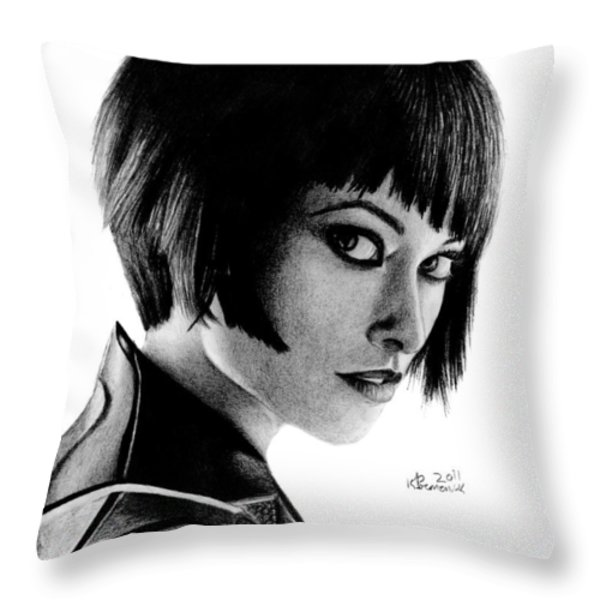 She's an ISO Throw Pillow by Kayleigh Semeniuk