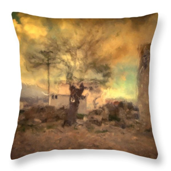 She's like the wind ...through my tree Throw Pillow by Taylan Soyturk