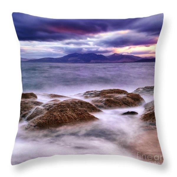 Shhhhh Throw Pillow by John Farnan