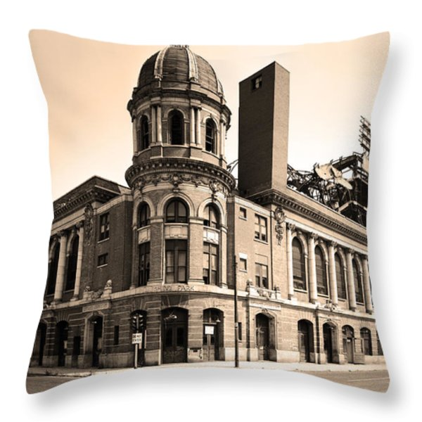 Shibe Park  Throw Pillow by Bill Cannon