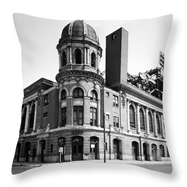 Shibe Park in black and white Throw Pillow by Bill Cannon