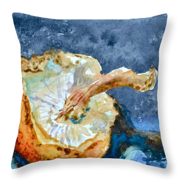 Shiitake Throw Pillow by Beverley Harper Tinsley